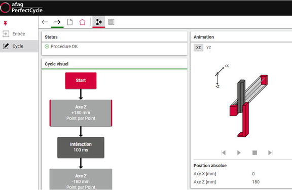 Screenshot of tool PerfectCylce from Afag – the digital configurator for perfect handling systems